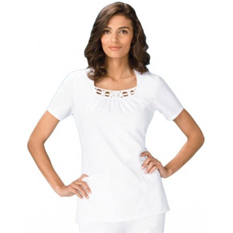 Bluza Medicala Cherokee Whites Two Pockets Square Neck
