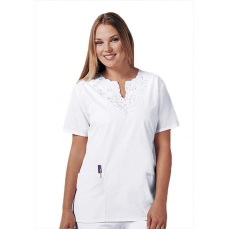 Bluza Medicala Cherokee Whites Split Neck Tunic
