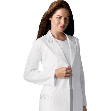 Halat Medical Alb Femei Embroidered Lab Coat