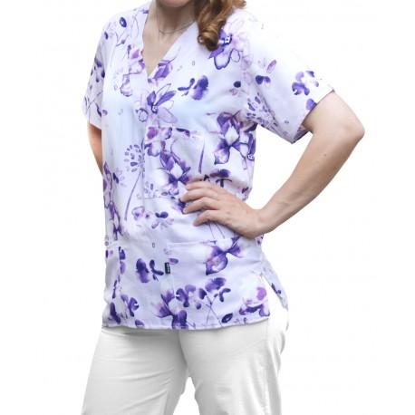 Costum Medical Imprimat Violeta